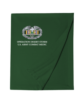 Desert Storm Combat Medical Badge Embroidered Dryblend Stadium Blanket