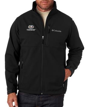 Desert Storm Combat Medical Badge Embroidered Columbia Ascender Soft Shell Jacket