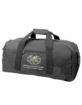 Desert Storm Combat Medical Badge Embroidered Duffel Bag