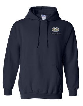 Desert Storm Combat Medical Badge Embroidered Hooded Sweatshirt