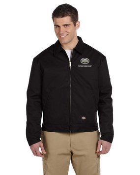 Desert Storm Combat Medical Badge Embroidered Dickies 8 oz. Lined Eisenhower Jacket