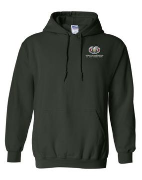 Iraqi Freedom Combat Medical Badge Embroidered Hooded Sweatshirt
