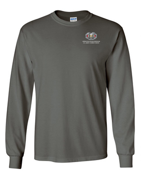 Operation Iraqi Freedom Combat Medical Badge Long-Sleeve Cotton T-Shirt