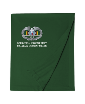 Operation Urgent Fury Combat Medical Badge Embroidered Dryblend Stadium Blanket
