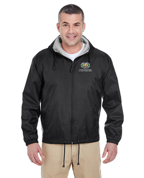 "Vietnam ""Combat Medical Badge"" Embroidered Fleece-Lined Hooded Jacket"
