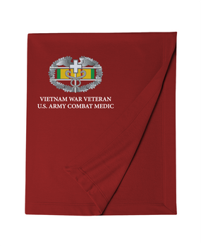 Vietnam Combat Medical Badge Embroidered Dryblend Stadium Blanket