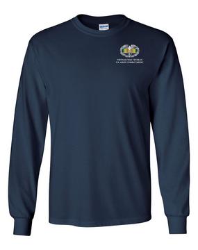 Vietnam  Combat Medical Badge Long-Sleeve Cotton T-Shirt