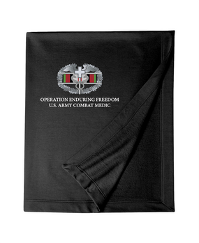 OEF Combat Medical Badge Embroidered Dryblend Stadium Blanket