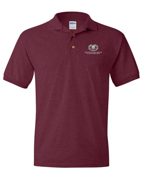 OEF Combat Medical Badge Embroidered Cotton Polo Shirt