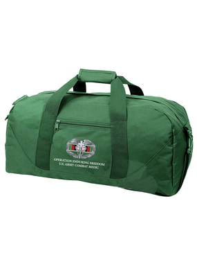 OEF Combat Medical Badge Embroidered Duffel Bag
