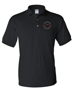 """2-75th Ranger Battalion """"Proudly Served"""" Embroidered Cotton Polo Shirt"""