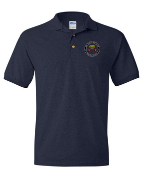 "2-75th Ranger Battalion (Original Scroll-Tab)  ""Proudly Served"" Embroidered Cotton Polo Shirt"