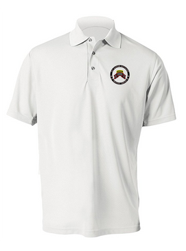 """2-75th Ranger Battalion-Original""""-Tab-  """"Proudly Served""""  Embroidered Moisture Wick Polo Shirt"""