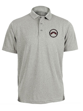 """3-75th Ranger Battalion """"Proudly Served""""  Embroidered Moisture Wick Polo Shirt"""