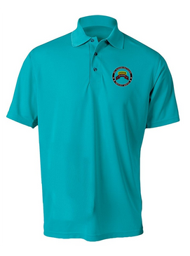 """3-75th Ranger Battalion-Tab- """"Proudly Served""""  Embroidered Moisture Wick Polo Shirt"""