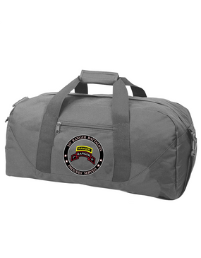 """1-75th Ranger Battalion-Tab-  """"Proudly Served"""" Embroidered Duffel Bag"""