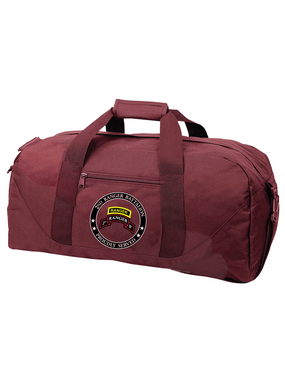 """2-75th Ranger Battalion-Tab-  """"Proudly Served"""" Embroidered Duffel Bag"""