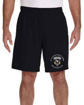 504th PIR Embroidered Gym Shorts