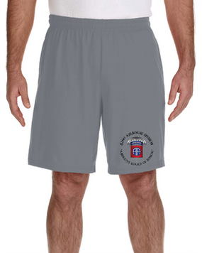 82nd Airborne Division Embroidered Gym Shorts