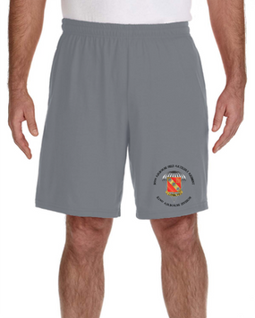 319th Airborne Field Artillery Regiment Embroidered Gym Shorts