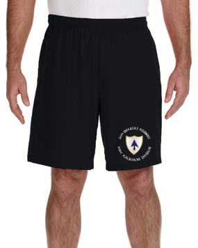 26th Infantry Regiment  Embroidered Gym Shorts
