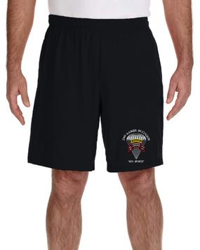 2/75th Ranger Battalion-Original-Tab- Embroidered Gym Shorts