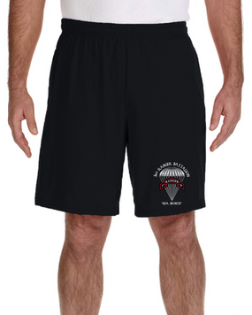 3/75th Ranger Battalion Embroidered Gym Shorts