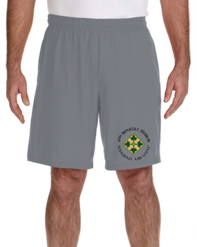4th Infantry Division Embroidered Gym Shorts