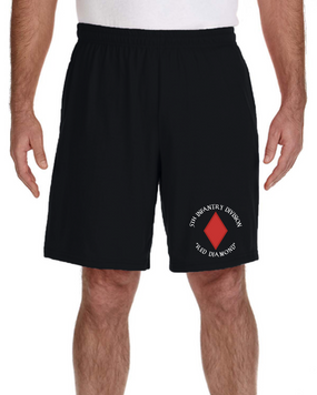 5th Infantry Division Embroidered Gym Shorts