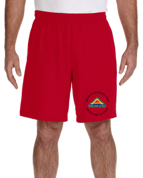 United States 7th Army Embroidered Gym Shorts