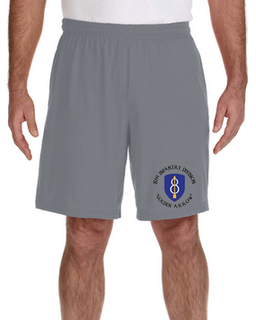 8th Infantry Division Embroidered Gym Shorts