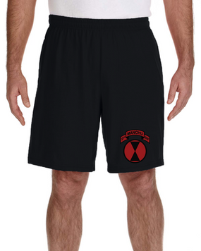 MANCHUS  Embroidered Gym Shorts