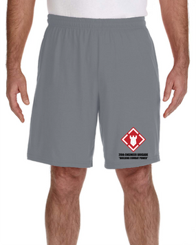 20th Engineer Brigade Embroidered Gym Shorts
