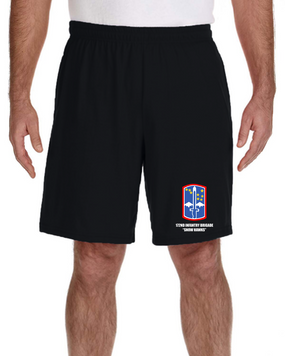 "172nd Infantry Brigade ""Snow Hawks""  Embroidered Gym Shorts"