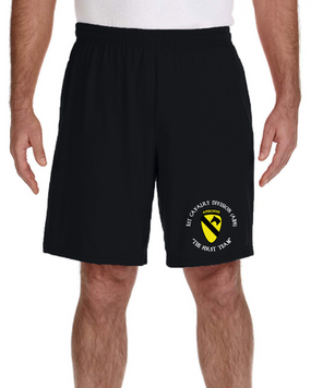 1st Cavalry Division (Airborne) Embroidered Gym Shorts
