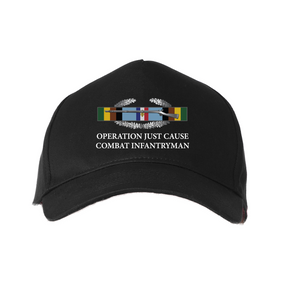 Operation Just Cause - OJC-w/ Bronze Arrowhead Embroidered Baseball Cap