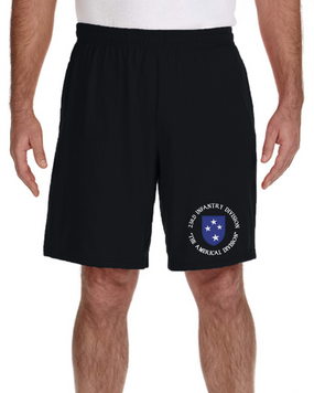 23rd Infantry Division Embroidered Gym Shorts