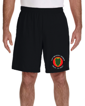 24th Infantry Division Embroidered Gym Shorts