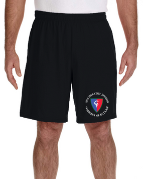 "38th Infantry Division ""Bataan"" Embroidered Gym Shorts"