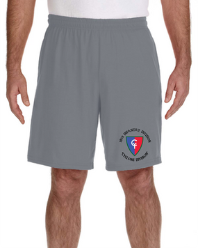 38th Infantry Division Embroidered Gym Shorts