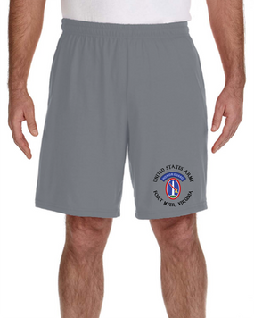 US Army Honor Guard Embroidered Gym Shorts