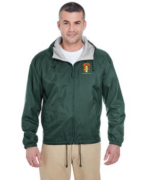 SETAF Embroidered Fleece-Lined Hooded Jacket
