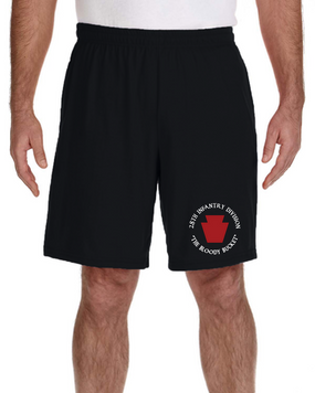 28th Infantry Division Embroidered Gym Shorts