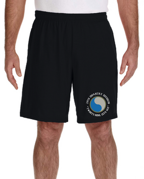 29th Infantry Division Embroidered Gym Shorts