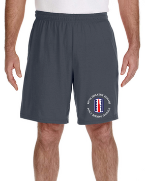 197th Infantry Brigade Embroidered Gym Shorts