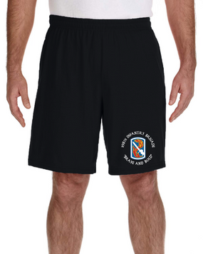 198th Infantry Brigade Embroidered Gym Shorts