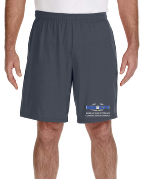 Korean War -CIB Embroidered Gym Shorts