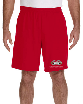 Operation Enduring Freedom -CAB  Embroidered Gym Shorts
