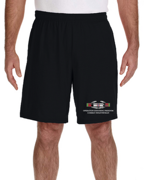 Operation Enduring Freedom -CIB Embroidered Gym Shorts