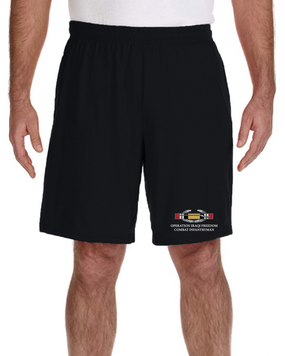 Operation Iraqi Freedom -CIB Embroidered Gym Shorts